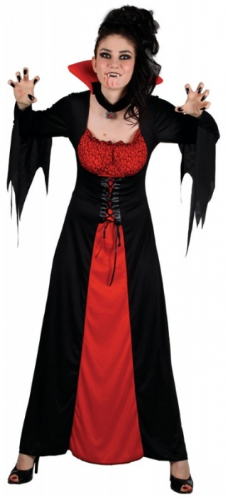 WICK5047 Ladies Classic Vampiress Halloween Costume