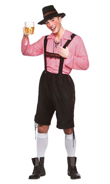 WICK3233 Mens Bavarian Beer Man Costume up to Plus Size