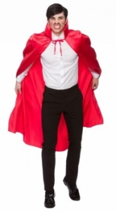 WICK9038 Adult Red Satin Cape