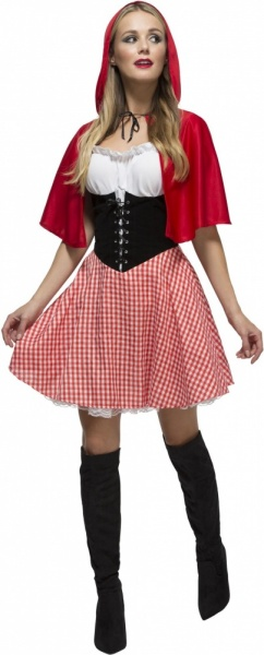 SM38490 Ladies Fever Red Riding Hood Costume