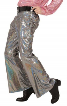 SAN8760_8766 Silver Holographic Trousers