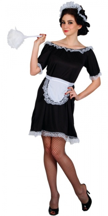 WICK2126 Ladies Black French Maid Costume
