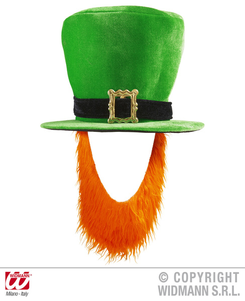 SANC9508P Adult Irish Top Hat with Beard d59e05aa801