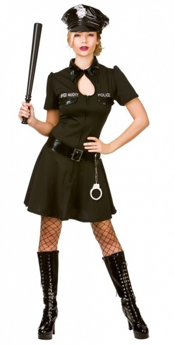 WICK0151 Ladies Naughty Officer Costume - up to Plus Size