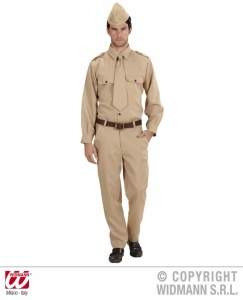 SANC4472 Mens WW2 Army Soldier American Costume