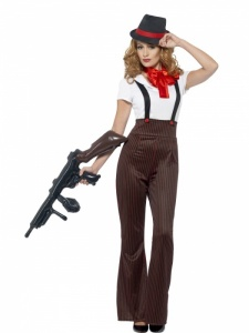 SM24635S Ladies Gangster Costume