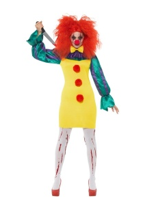 SM47563 Ladies Scary Halloween Horror Clown Costume