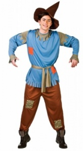 WICK3214 Mens Adult Scarecrow Costume to Plus Size