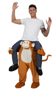 WICK8705 Mens Carry Me Monkey Stag Costume