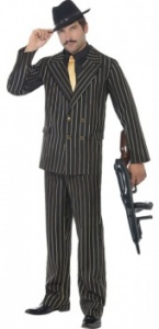 SM22414 Mens Pinstripe Gangster Costume
